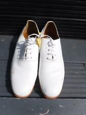 BRITISH Royal Navy Officer sailor PO RN CPO White uniform deck Leather Shoes 9