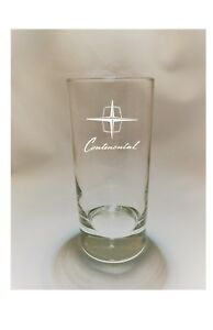 Vintage Lincoln Continental Logo Etched High ball glass FREE SHIPPING