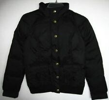 Juicy Couture Womens Black Down Hooded Bomber Puffy Jacket #JGS00714 (XL) NWT