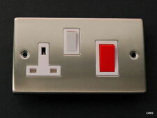 Cooker Switch Socket Brushed Stainless Postage