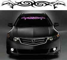 TRIBAL DOLPHINS windshield decal / sticker for girls