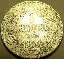Rare South Africa 1895 Silver Shilling~One Of The Key Dates~Free Shipping~