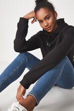 Factorie Womens Basic Hoodie Fleece Tops  In  Black