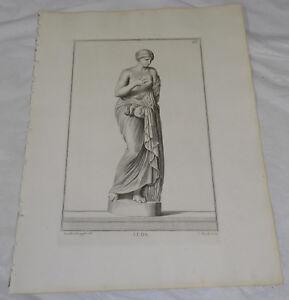 1734 Antique Statue Print///LEDA, ROMAN DAUGHTER OF KING THESTUIS
