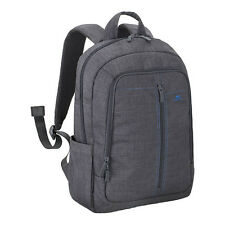 "RIVACASE 7560 WATER RESISTANT GREY CANVAS LIGHTWEIGHT BACKPACK FOR 15.6"" LAPTOPS"