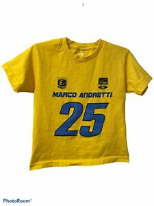 Indycar Marco Andretti 25 T-Shirt Youth Size Small - Yellow