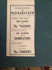 G1-1  Ephemera 1965 advert old barn cornwall del sparton the torinoes