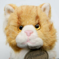 "Yomiko Classics Orange Tabby Cat Plush Stuffed Animal 9"" tall Russ Berrie"