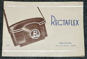 Rectaflex Original Product Brochure In English 16 Pages Printed In Italy 1950's