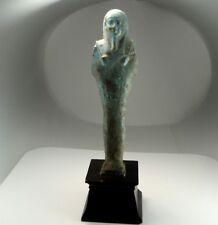 Published Shabti Ancient Egyptian 300 BC Late Period Faience Mummy Tomb Ushabti