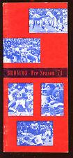 1971 NFL Football Denver Broncos Pre Season Media Guide EX+