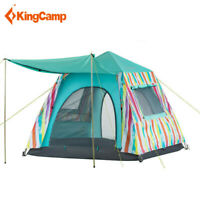 KingCamp Rainbow Camping Family Tent Waterproof Portable Door Awning Outdoor