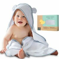 Organic Bamboo Hooded Baby Towel and Washcloth Extra Large Extra Soft Bath Towel