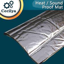 10cm x 100cm Car Door Trunk Exhaust Muffler Insulation Heat Sound Mat 10mm Thick