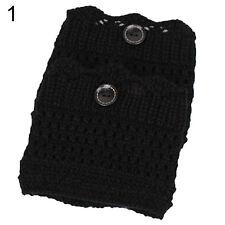 Women Winter Leg Warmers Button Crochet Knit Boot Socks Toppers Cuffs Popular