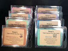 3 Clam Shells TRIPLE SCENTED Soy Wax NOOPY'S Candle Melts/Tarts-140+ U Pick!