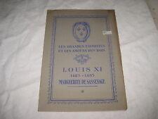 Livret Les Grandes Favorites et les Amours des Rois LOUIS XI M. de SASSENAGE
