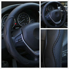 Car Steering Wheel Cover PU Leather 38cm Embossed Sprots Style For Four Seasons
