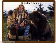 Grizzly Adams & Bear Refrigerator / Tool  Box / Locker  Magnet