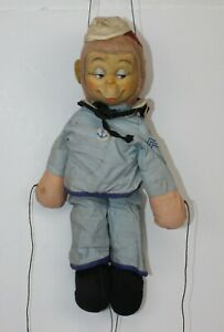 Vtg Knickerbocker Sammy the Sailor Monkey Marionette String Puppet Plush 1964