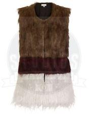 Womens Luxury Faux Fur Gilet Jacket Outerwear Waistcoat Fashion Branded Vest UK