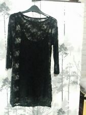 Black Lace Bodycon Dress 8 -10 BNWOT