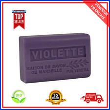 Savon De Marseille Violette Au Beurre De Karité Pure Bio 100% Naturel De 125 gr