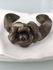 Chanel - Cuff Bracelet with Camellia centre design