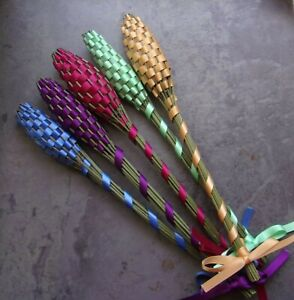 Lavender Filled Wands Gift Set of 5 Medium Size Colorful Mix Handmade