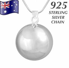 Angel Caller Harmony Chime Ball Bola Pendant 925 Sterling Silver Chain Necklace