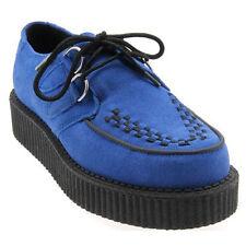 CREEPERS Suela Baja Cordones Ante Azules talla 40 . blue suede creepers
