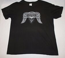 Asphalt Angel T-shirt L Motorcycle Motor Cycle Biker Black Panhead Pan Head