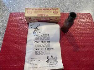 Herter's 903 Deer Master Deer Call Pat.Pend. W/Box & Paperwork