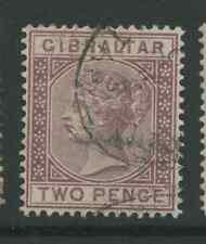 Gibraltar SG10 1887 2d  used