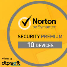 Norton Security Premium 2019 10 Devices 10 PC Mac Internet 2 Years 2018 UK