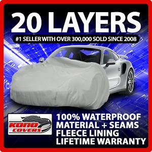 20 Layer Car Cover Indoor Outdoor Waterproof Breathable Layers Fleece Lining 609