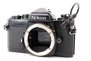 Exc+5 NIKON FE 35mm SLR MF Camera Black Body + MF-12 DATA BACK From JAPAN