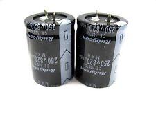 820uF 250V (2x) Electrolytic Capacitors 250V 820uF Volume 30x40 mm
