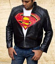 Batman Vs Superman Dawn of Justice logo Handmade Black Sheep Leather Jacket