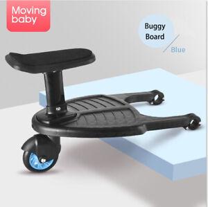 Buggy Board für Kinderwagen Rollbrett mit Sitz Universal Trittbrett  bis 25KG