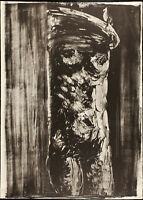 "Vittorio TAVERNARI ""Donna che si sveste"" , 1967 litografia originale firmata"