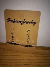 Black Mustache Charm Dangle Earrings - Free Shipping in US - F
