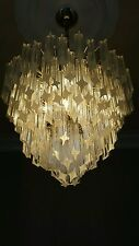 Mid 1960's Vintage 4 Tier Camer Murano Venini Glass chandelier - 80 crystals