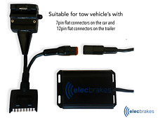 Portable Bluetooth Electric Brake Controller with 7 - 12 Pin Adapter