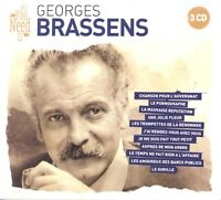 GEORGES BRASSENS - ALL YOU NEED IS: GEORGES BRASSENS 3 CD NEUF
