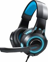 Phenom EXP09 Surround Gaming Headset for PS4 Xbox One Boom Mic LED Glow Lights