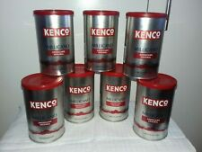 7 X KENCO MILLICANO 100G EMPTY LIDDED COFFEE TINS.CRAFTING/CANDLEMAKING/STORAGE