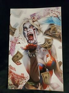 DECEASED #1 GREG HORN VIRGIN EXCLUSIVE HARLEY QUINN