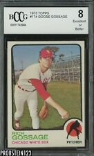 1973 Topps #174 Goose Gossage White Sox RC Rookie HOF BCCG 8