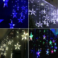 LED Stars Hanging Curtain Lights String Xmas Home Party Home Decor Atmosphere